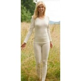 Engel - dame leggings - uld & silke - natur