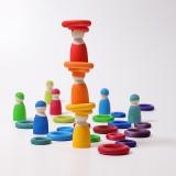 Grimms - bygge ringe - 24 stk. - klassiske farver