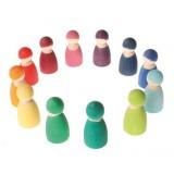 Grimms - 12 regnbue venner - klassiske farver