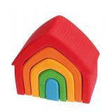 Grimms - lille hus - 5 dele - klassiske farver