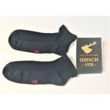 Hirsch - tynde ankelsokker (kun 15 gram) - silke - sort