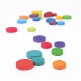 Grimms - coins - 24 stk. - klassiske farver