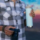 Klean Kanteen - TKWIDE- termoflaske 592 ml. - twist cap - blue tint