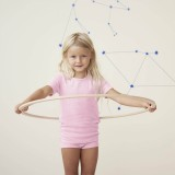 Living Crafts - kortærmet t-shirt - GOTS bomuld - rosa melange