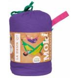 Hængekøje til børn incl. monteringssæt - økologisk bomuld - lilla