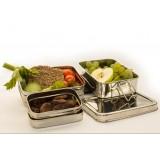 Pulito - madkasse i stål - 3-i-1 ekstra stor