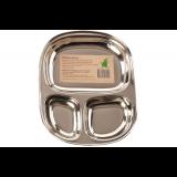 Pulito - tallerken i 3 rum - stål - lille