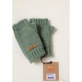 Pure Pure - håndledsvarmer - alpaca/bomuld/merino uld - green melange
