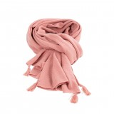 Pure Pure - stort halstørklæde - merinould & kashmir - duset rosa