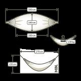 Hængekøje - GOTS certificeret økologisk bomuld - mocca