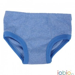 Iobio - underbukser - gots bomuld - blå melange