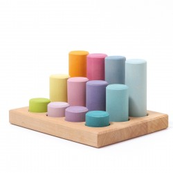 Grimms - stacking game - pastelfarver