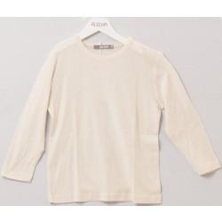 Alkena - langærmet bluse - større børn- bourette silke - natur