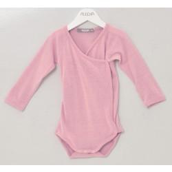 Alkena - langærmet kimonobody - bourette silke - støvet rosa