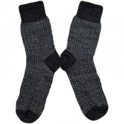 Hirsch - fintstrikkede uld-strømper - unisex - grå