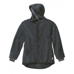 DISANA   uldjakke   kogt uld   antracitgrå