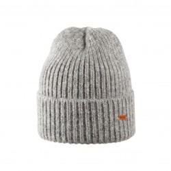 Pure Pure - hue til voksne - alpaca & bomuld - grå melange