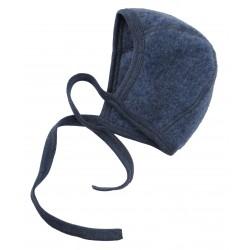 Engel | babyhue i uldfleece | blå melange