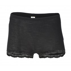 Engel - dame hotpants med blonde - uld & silke - sort