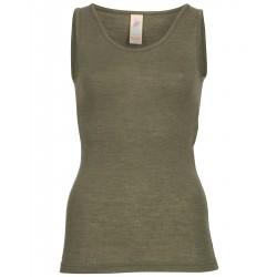 Engel - dame undertrøje - uld & silke - olive