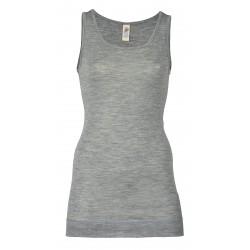 Engel - dame undertrøje med ekstra længde - uld & silke - grå