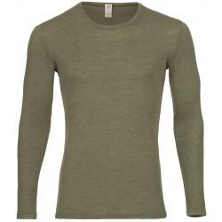 Engel - herre langærmet t-shirt - uld & silke - olive