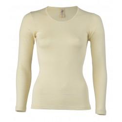 Engel - dame langærmet T-shirt - uld & silke - natur
