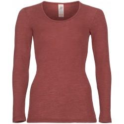Engel - dame langærmet t-shirt - uld & silke - kobber