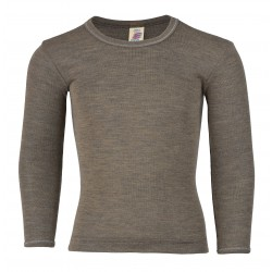 Engel - langærmet bluse - uld & silke - valnød