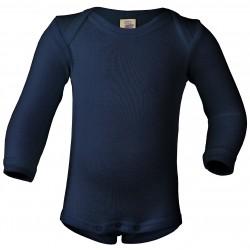 Engel - langærmet body - uld & silke - marine