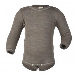 Engel | langærmet body | uld & silke | valnød