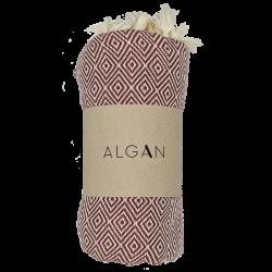 Algan - Elmas badelagen - 100x180 cm. - dark terracotta