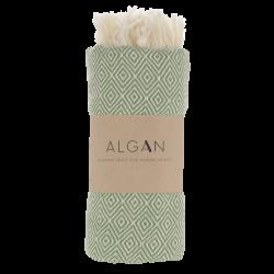 Algan - Elmas gæstehåndklæde - 65x100 cm. - olive