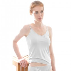 Alkena - top - økologisk silke - hvid