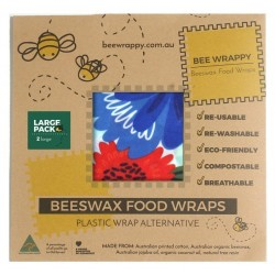 Bee Wrappy - genanvendelige wraps - 2 stk. - large