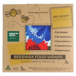 Bee Wrappy - genanvendelige wraps - 2 stk. - medium