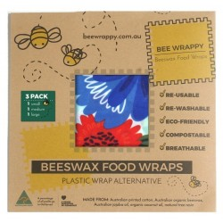 Bee Wrappy - genanvendelige wraps - 3-pak
