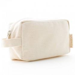 Bo Weevil - lille kosmetik taske med hank - natur