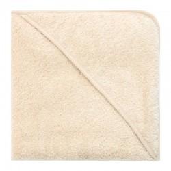 Bo Weevil - tykt badehåndklæde med hætte - 100x100 cm. - natur