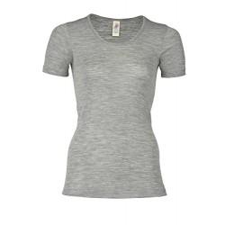 Engel - dame kortærmet t-shirt - uld & silke - grå