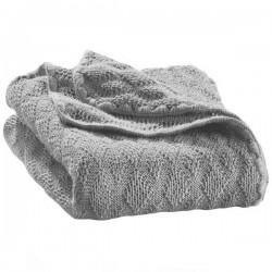 DISANA - babytæppe økologisk uld - grå