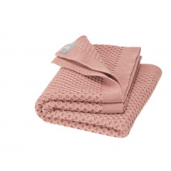 DISANA - babytæppe økologisk uld - honeycomb - rosé