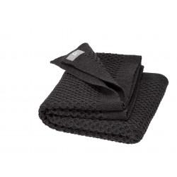 DISANA - babytæppe økologisk uld - honeycomb - antracit