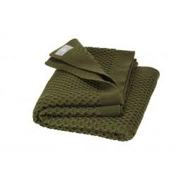 DISANA - babytæppe økologisk uld - honeycomb - olive