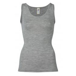 Engel - dame undertrøje - uld & silke - grå