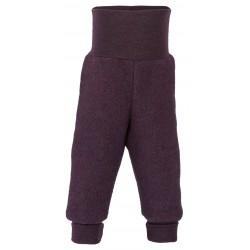 Engel - bukser i økologisk uldfleece - mørk lilla