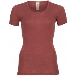 Engel - dame kortærmet t-shirt - uld & silke - kobber