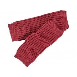 Grödo - benvarmere - børn - økologisk uld - 25 cm. - bordeaux