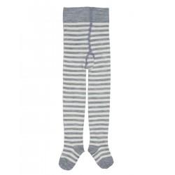 Grödo - strømpebukser - uld & bomuld - stribet grå & natur
