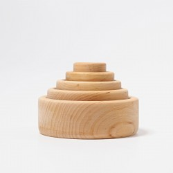 Grimms - runde stabelkasser - 5 dele - natur